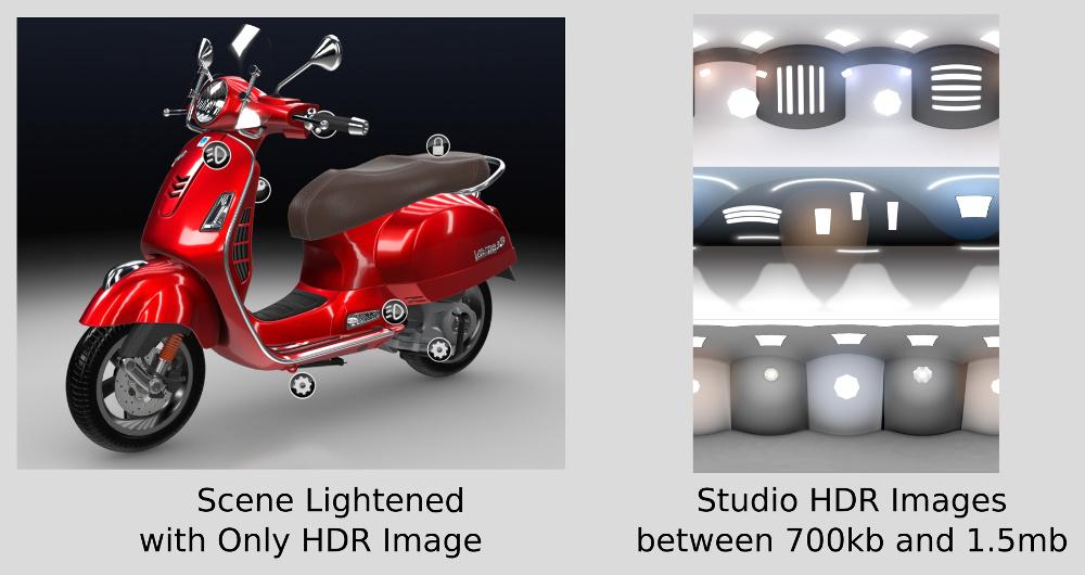 使用HDR环境纹理代替光源以获得更好的WebGL性能